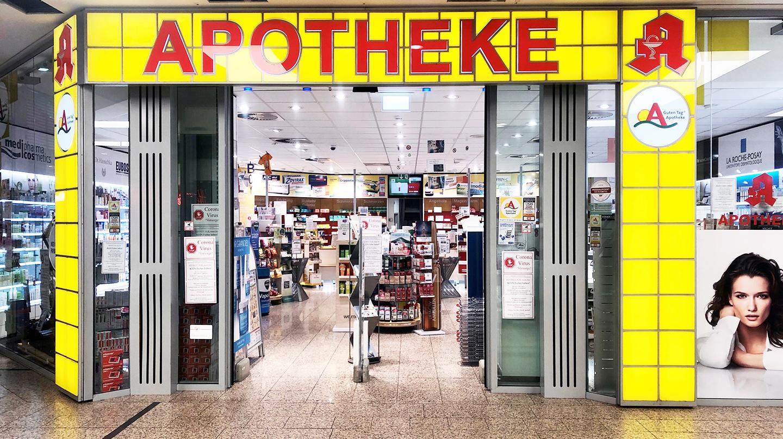 Eingang Saarpark Apotheke